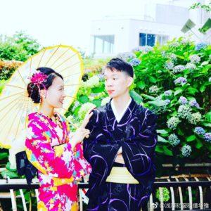 台湾からお越しのお客様です。浴衣を上品に着て頂きました。💕浅草観光楽しんで下さいね😊 來自台灣的客人,體驗浴衣,您們兩位都穿起來很適合很有氣質唷!祝您們在淺草觀光愉快!