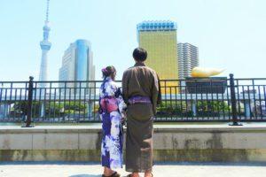 メンズ浴衣をお選び頂きました。夜には、江戸川区花火大会にお出かけするそうです。東京浅草散策楽しんで下さいね(*^ー^)ノ♪