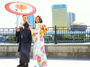 台湾からのお客さまです。伝統的な振り袖と、羽織の着物をお選び頂きました????とっても素敵ですね\(^o^)/着物体験ありがとうございます(●^o^●)