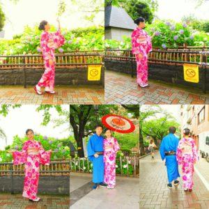 伝統的なお着物をお選び頂きました。和柄の傘で、日本情緒ある浅草スタイルです(*^^*) 着物体験ありがとうございます\(^_^)/