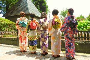 伝統的な浴衣を皆さんお似合いです\(^_^)/ 仲良しプランで、ご利用頂きました(^^)浅草散策楽しんで下さいね(*^ー^)ノ♪