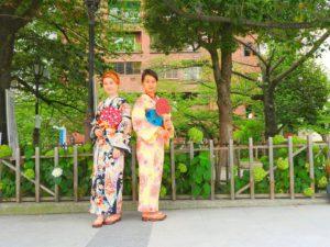 上海からのお客様です。伝統的な浴衣を体験して頂きました。東京浅草観光楽しんで下さいね\(^_^)/