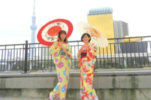 お二方とも艶やかなお着物をお選び頂きました(^^)とてもお似合いで素敵ですね(*^ー^)ノ♪浅草観光楽しんで下さい(^-^)