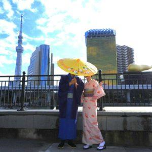 海外からのお客様です\(^_^)/初めての和服体験ありがとうございます( ^-^)ノ 來自海外的客人^.^今天是第一次體驗和服,選擇了傳統素雅款式,超級適合的呢\(^_^)/