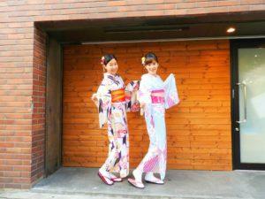海外からのお客様です!着物体験ありがとうございます(^^)日本の伝統の艶やかなお着物がとてもお似合いです(*^^*)