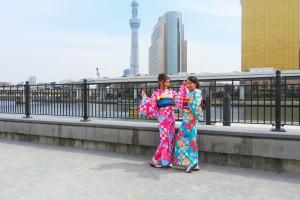 市松の色違いのお着物をお選び頂きました~レトロモダンでとても可愛いです(*^▽^)/★*☆♪