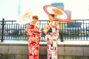 伝統的なお着物をお選び頂きました。とても可愛いですね♪\(^-^)/