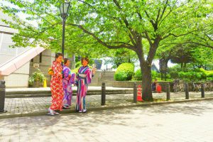 伝統的な和柄のお着物が、艶やかでとても可愛いですね(*^▽^)/★*☆♪浅草散策楽しんでくださいね(σ≧▽≦)σ