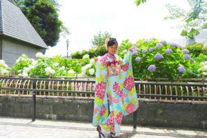 十三参りのためにお振り袖をお選び頂きました(^^)おめでとうございます。とてもかわいいですね\(^_^)/❤