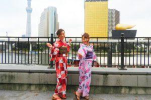 ピンクと赤の色彩がとてもお似合いです\(^_^)/浴衣体験ありがとうございます。