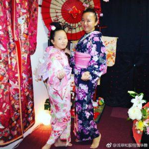 海外からのお客様です💕ご家族で日本伝統の和服体験ありがとうございます(*^▽^*)お二人共お似合いで素敵です💗 來自海外的客人,家族旅遊來日本體驗日本傳統和服,兩位都非常適合您們喔!