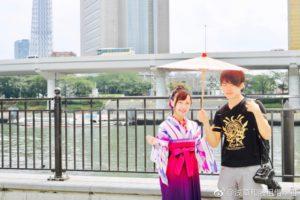 台湾からお越しのお客様です💕 袴を体験して頂きました(*^▽^*) とてもお似合いで可愛いですね💗 來自台灣的客人,體驗袴,非常可愛非常適合您喔!