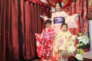 香港媽媽帶漂亮女兒們一起來體驗和服