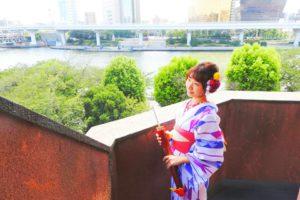 伝統の矢羽柄の浴衣をお選び頂きました。着物風でとても素敵です\(^_^)/撮影頑張って下さいね(*^ー^)ノ♪