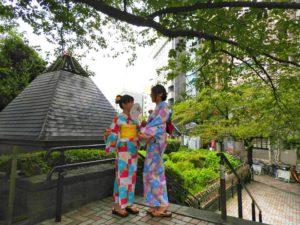 納涼船ナイトクルーズプランをご利用のお客様です。ピンクとブルーの浴衣がとてもお似合いでかわいいです\(^_^)/楽しんで下さいね❤