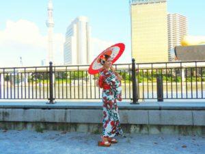 海外からのお客様です\(^_^)/浴衣の着付けをさせて頂きました。屋形船楽しんで下さいね(*^ー^)ノ♪  來自海外的客人\(^_^)/希望這次的體驗能給您留下美好的記憶~玩得開心唷!