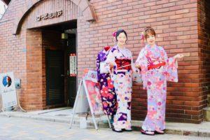 海外からお越しのお客様です 新柄のお着物 を 双子コーデ して頂きました。日本旅行 で 浅草観光 巡り を 和服 着て楽しんでくださいね 來自國外的客人,選擇本店新款和服,兩位選擇同款不同色體驗,祝您穿著和服在淺草觀光愉快喔!
