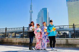 台湾からお越しのお客様です️ 2時間プランをご利用頂きました。初めての日本旅行で和服体験ありがとうございます。浅草観光楽しんで下さい。  來自台灣的客人們,選擇兩小時的體驗方案,第一次的日本旅遊,來體驗和服非常謝謝您們喔!祝您們在淺草觀光愉快!  2時間プラン2800円から 兩小時方案2800日圓起