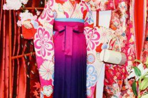 芸能界でご活躍のモデル 金子 響さんです。袴と振袖プラン。素敵でかわいいですね。