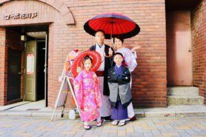 馬來西亞來的一家人,一起體驗袴