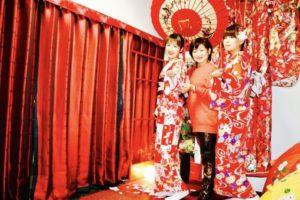 来自台湾的客人💕。 用了当天的套餐活动。 两人都租了十分可爱的松支模样的和服。非常传统正宗。 下次有时间的话再来体验哦😍