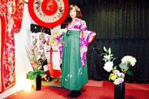 ご卒業おめでとうございます㊗️豪華な振袖に袴プランをお選び頂きました。ありがとうございます😊 客人選擇了華麗的振袖以及袴去參加畢業典禮,非常漂亮很適合您唷,祝福您畢業快樂㊗️