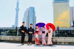 #浅草散策 仲良しグループです。 來自不同國家一起來替驗浴衣的好友們。