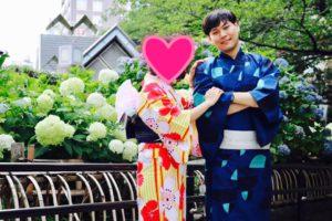 海外からお越しのお客様です💕和服体験ありがとうございますとてもお似合いで可愛いです💕日本旅行楽しんで下さいね✈️ 來自海外的客人,謝謝您體驗本店的和服,非常可愛很適合您~祝您們在日本玩得愉快