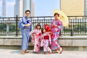 香港からお越しのお客様です👘ご家族での和服体験ありがとうございます。 來自香港的客人,全家一人一起體驗本店的和服唷~超級開心的