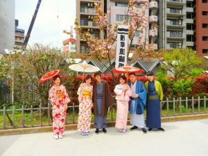 香港からの仲良しグループです。艶やかなお着物に伝統的な羽織を体験頂きました。とても素敵ですね\(^o^)/着物体験ありがとうございます
