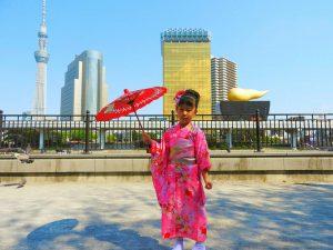 5/5こどもの日です。日本の伝統行事に、女の子の着物で写真撮影をいたしました!とても可愛いですね\(^o^)/着物体験ありがとうございます