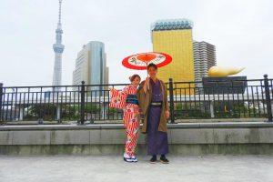 伝統的なお着物がとてもお似合いです(~▽~@)♪♪♪浅草散策楽しんでくださいね(σ≧▽≦)σ