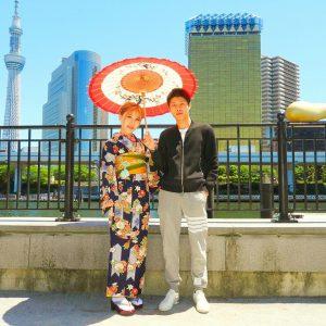 上海からのお客さまです。古典柄をお選び頂きました\(^-^)/着物体験ありがとうございます(●^o^●)