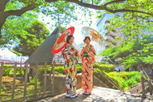 古典柄をお選び頂きました。お二人ともとても素敵です\(^_^)/浅草散策楽しんくださいね♪