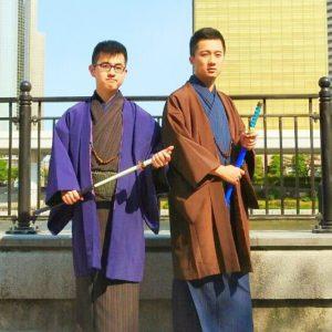 台湾からのお客様です。伝統柄な羽織に着物をお選び頂きました。着物体験ありがとうございます(●^o^●)