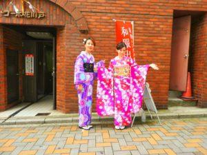 中国からのお客様です。伝統的なお着物をお選び頂きました。\(^_^)/