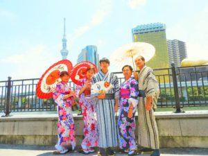 台湾からのご家族でのご利用いただきました。 浴衣体験ありがとうございます\(^_^)/ また2回目のご利用です。日本情緒ある浅草を楽しん下さいね