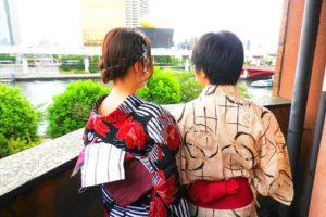 黒地の艶やかな浴衣と白地に龍の浴衣がとてもお似合いです\(^_^)/神宮外苑花火大会へお出かけ頂きました(^^)楽しんで下さいね(*^ー^)ノ♪
