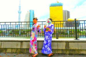 ハッシャタグキャンペーンで、当選しましたお客様です\(^_^)/ありがとうございます(*^ー^)ノ♪日本伝統的な浴衣を、上品に着付けいたしました。帯結びもアレンジしています!浅草観光楽しんで下さいました。