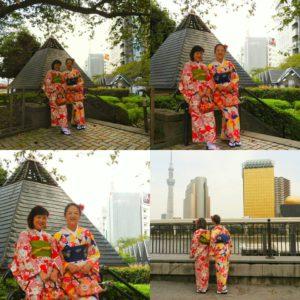 海外からのお客様です\(^_^)/ 艶やかなお着物をお選び頂きました。とても素敵です(*^ー^)ノ♪ 浅草観光楽しんで下さいね★ 也是從台灣來的兩位客人~~ 這次穿了十分色艷華麗的和服,兩位都非常的合襯呢(^_^)