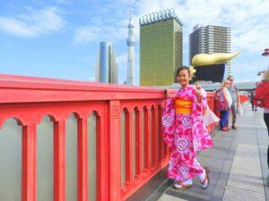 香港から9歳のお客様です\(^_^)/ピンクのお振袖をお選び頂きました(^^)浅草観光楽しんで下さいね(*^ー^)ノ♪  從香港來的9歲可愛的客人喲^.^選擇了粉紅色的振袖! 觀光淺草玩得愉快喲(*^ー^)