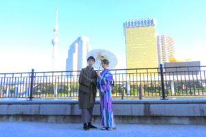 伝統的なお着物をお選び頂きました(^^)浅草散策楽しんで下さい! 客人選擇了傳統的和服款式(^^) 好有氣質呢! 淺草約會快樂喲!