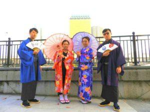 香港からのお客様です\(^_^)/仲良しプランをご利用頂きました。浅草着物レンタル華雅 來自香港的客人\(^_^)/難得來日本旅行,體驗一下日本和服!願今日的體驗,能讓每位都留下美好又深刻的回憶!淺草觀光玩得愉快喲!!