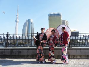 台湾からのお客様です。和服体験ありがとうございます(^^)/伝統的な着物をお選び頂きありがとうございます。浅草観光楽しんで下さいね 台灣的客人,谢谢来体驗本店的和服(*^^*) 3位小姐选的是传統和服,各位很美麗(•ө•)♡ 祝在浅草玩的開心(≧▽≦)