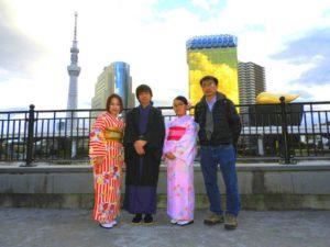 香港からのお客様です\(^_^)/御家族で和服体験ありがとうございます(^^)/浅草観光楽しんで下さいね(*^ー^)ノ♪ 來自香港的客人\(^_^)/家族的和服體驗喲!今天也有體驗化妝套餐,拍了許多紀念照呢!淺草觀光愉快喲(*^ー^)