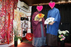中国からのお客様です。紳士の袴をお選び頂きました。お二方とも素敵です。 从中国来的两位客人,选择了本店的袴体验, 感谢您们把和服穿的如此帅气愿您今天在浅草玩的开心