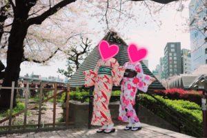 香港からお越しのお客様です。艶やかなお着物をお選び頂きました。ありがとうございます^_^浅草観光楽しんで下さいね^_^ 來自香港的客人(^^)選擇了艷麗款的和服,袋帶也與和服顏色非常配(^o^)祝兩位在淺草觀光玩得愉快喲!