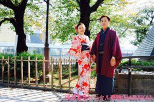 香港からお越しのお客様です💕 伝統的な和柄のお着物と紳士の和服を羽織と合わせてご利用頂きました👘