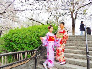 海外からお越しのお客様です。艶やかなお着物をお選び頂きました。ありがとうございます^_^浅草観光楽しんで下さいね! 來自香港的客人(^_-)兩位都選擇了美麗的和服,在滿開的櫻花步道上拍了許多紀念照(^_^)v感謝您們今日的和服體驗(^^)