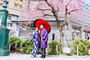 來自新加坡的情侶,和服非常適合兩位喔!!